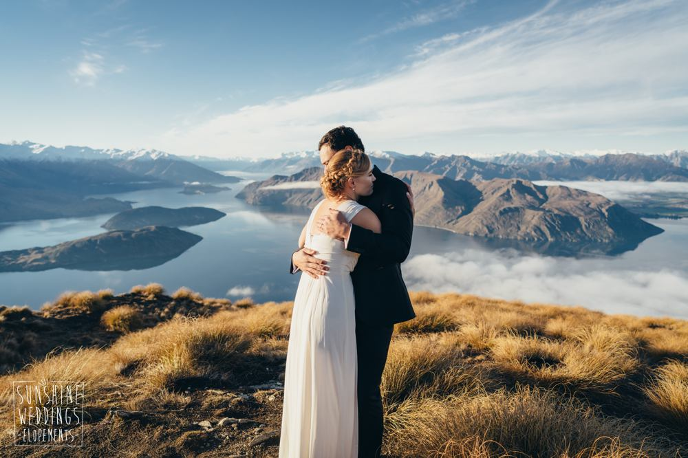 Coromandel Peak mountain wedding photography